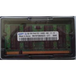1x 2GB SODIMM DDR3 - 1600 mhz - PC3-12800 - 204 PIN - 1,5v - SAMSUNG RAM MEMORY