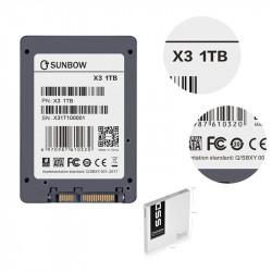 "SSD 1TB - 1000GB 2,5"" SATA III SUNBOW NUOVO IMBALLATO 7mm"