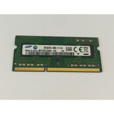 1x 4GB SODIMM DDR3L 1600 mhz PC3L-12800 1,35v 1r*8 MEMORIE RAM SAMSUNG