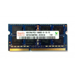 1x 4GB SODIMM DDR3 1333 mhz PC3-10600 204 PIN 1,5v 2Rx8 9-10-F2 HYNIX MEMORIE RAM