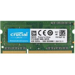 1x 4GB SODIMM DDR3L 1600 mhz PC3L-12800 1Rx8 CT512264BF160BJ MEMORIE RAM CRUCIAL