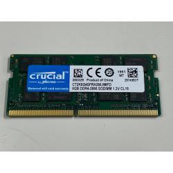 1x 8GB SODIMM DDR4 2666 mhz PC4-21300 2Rx8 260 PIN 1,2v CRUCIAL MEMORIE RAM