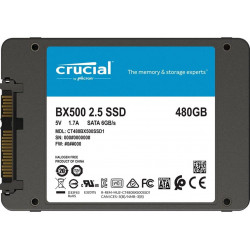 "SSD 480GB 2,5"" SATA III CRUCIAL BX500 NUOVO IMBALLATO 7mm"