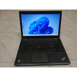 "NOTEBOOK A-- 14"" LENOVO THINKPAD T450 8GB SSD 240GB i5-5300U WEB professionale GARANZIA"